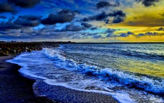 pantai, terbit, matahari, външно, пляж, море, dvd, закате, mojim, lanskap, берег,