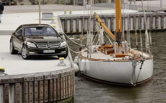 причал, coupe, мерседес, mercedes, яхты, фронтовой, парусная, яхта, порт, water, яхт,