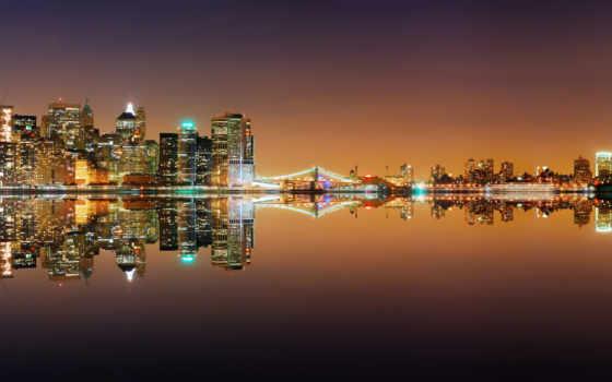 город, ночь, фартук, кухни, панорама,