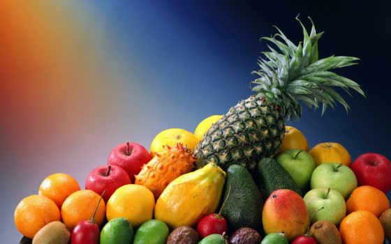 фрукты, pineapple, экзотические
