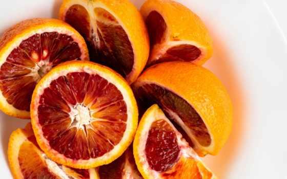 оранжевый, грейпфрут, кровь, slice, плод,