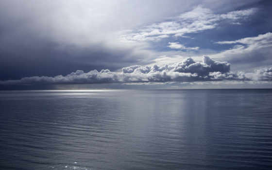 небо, oblaka, море, облачное, со, природа, тихая, совершенно, категория, синее,