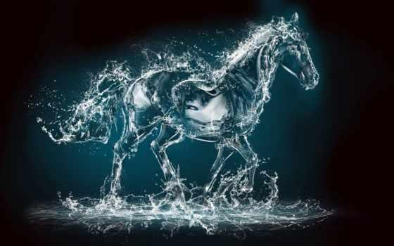 лошадь, abstract, art, pinterest, water, horses,
