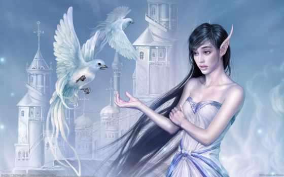 fantasy, эльф, девушка