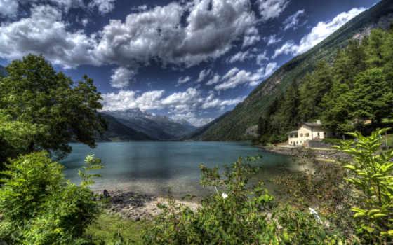озеро, швейцария, фотографий, гора, красивые, poschiavo, альпы, природы, landscape,