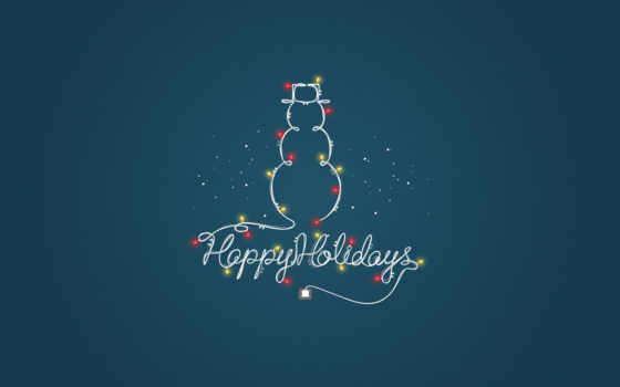 garland, happy, снеговик, new, год, holidays, праздник, free, photos, минимализм,