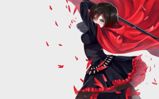 rwby, ruby, роза, anime, rokumitsu, fanart, pinterest,