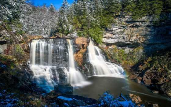 falls, park, водопад, state, природа, waterfalls, billeder, blackwater, река,