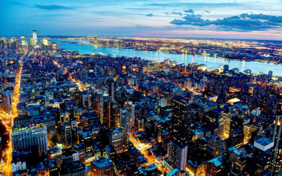 parede, cidade, papéis, noite, iphone, vista, nova, alta, qualidade, casas,