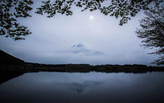 гора, япония, фудзи, вулкан, природа, flowers, landscape, фуджи,
