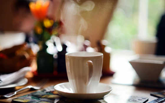 чая, утро, cup, кафе,