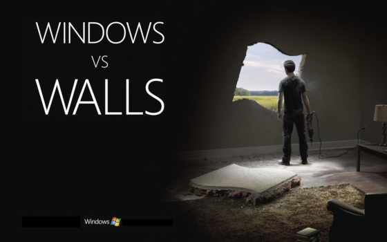 windows, walls
