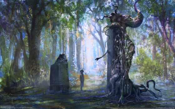 лес, памятник
