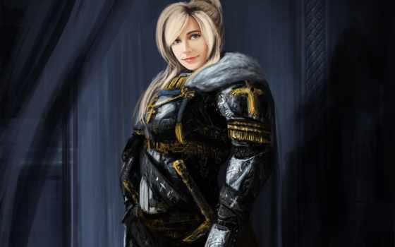fantasy, воин, девушка