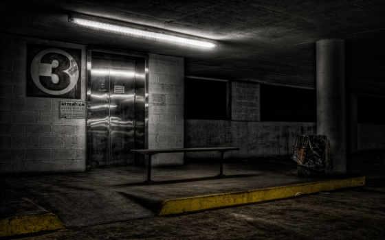 лифт, парковка, города, страница, скамейка, ночь, красивые, город, bang, sci,