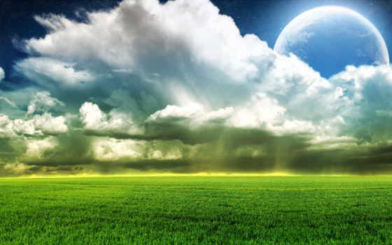 nubes, cielo, paisaje, тв, романтика, свет, descargar, pantalla,