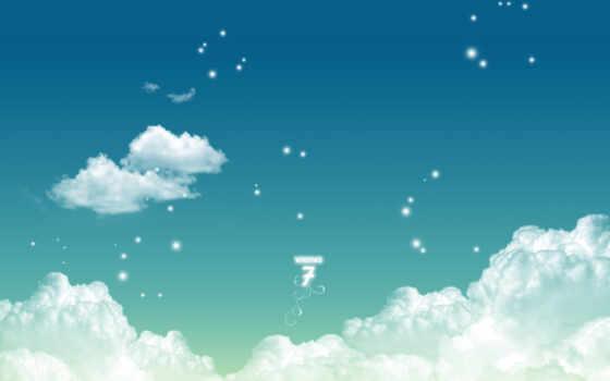 окно, облако, компьютер, seven, aesthetic, art, pixel