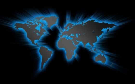 blue map of the world