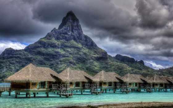 bora, остров, фотографий, this, удивительных, mount, гора, острова, земле, otemanu,