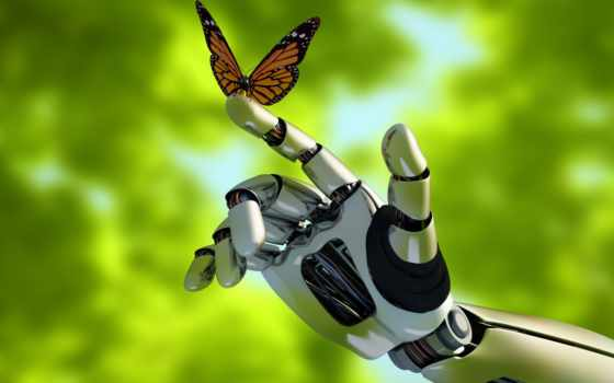 robot, mariposa, stock, fotos, mano, robots, robotics,