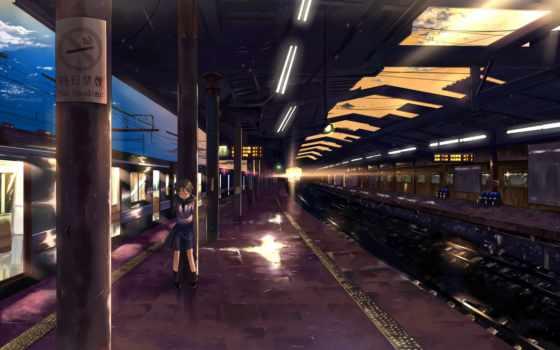 anime, станция, грусть, вечер, одна, everything,