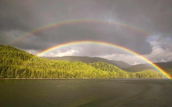 rainy, день, радуга, сохраните, загрузки, кнопкой, правой,
