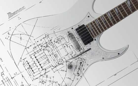 гитара, electric, blueprint