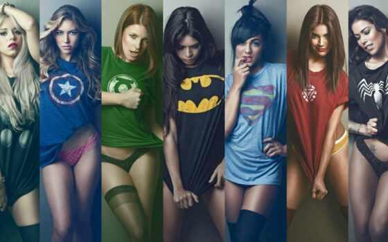 супергерои, девушки, самые