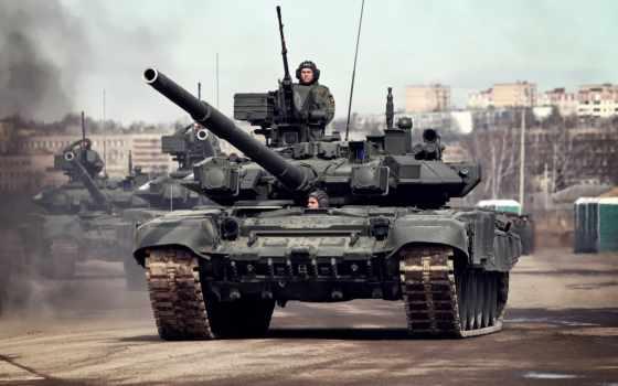 танк, Т-90А, парад