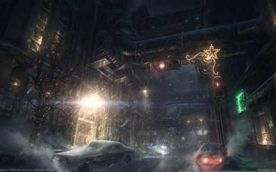 arkham, batman, origins, art, concept,