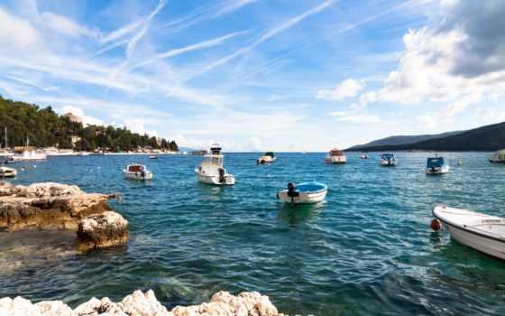 море, ocean, пляж, берег, яхта, корабль, free, high, kartinik