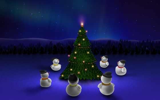 christmas, snowmen
