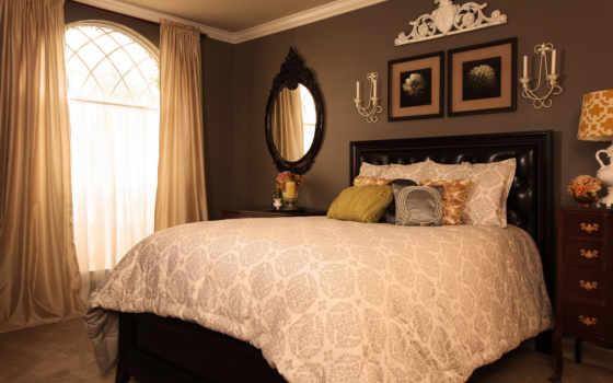 спальня, кровать Фон № 76668 разрешение 2048x1365