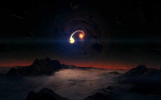 ночь, planet, полет