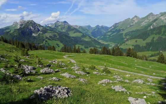 природа, горы, дорога