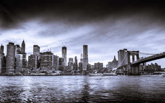 new, york, skyline