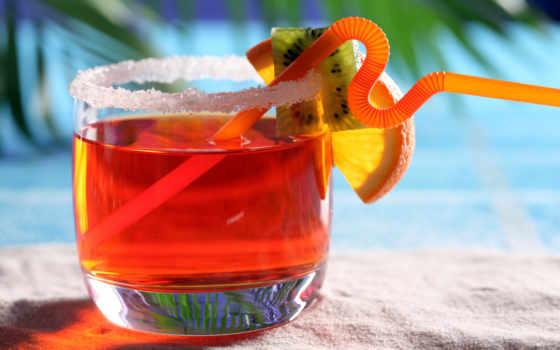 море, summer, песок, glass, трубочка, жидкий, макро, киви, напиток, берег,