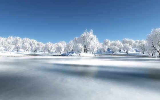 озеро, frozen, desktop, природа, this, категория,