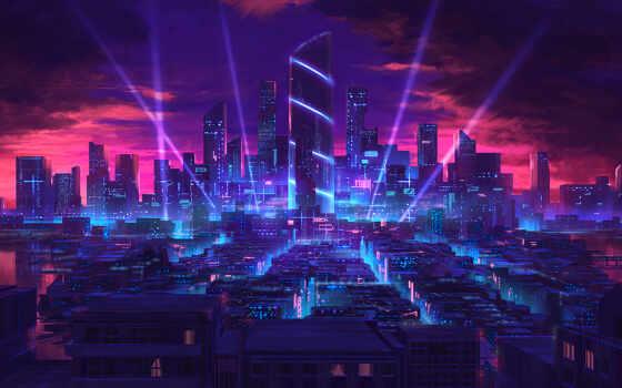 город, ночь, cyberpunk, bass, flyer, песнь, толкатель, шаблон, art, urban