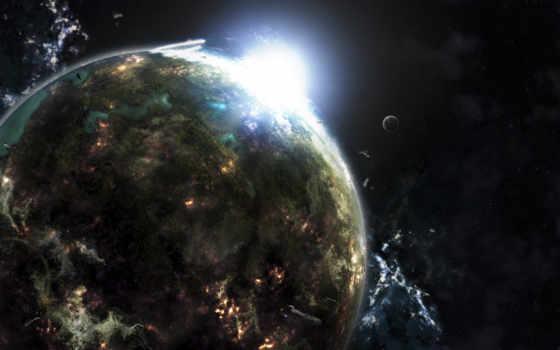 планета, звезда Фон № 17509 разрешение 2560x1600