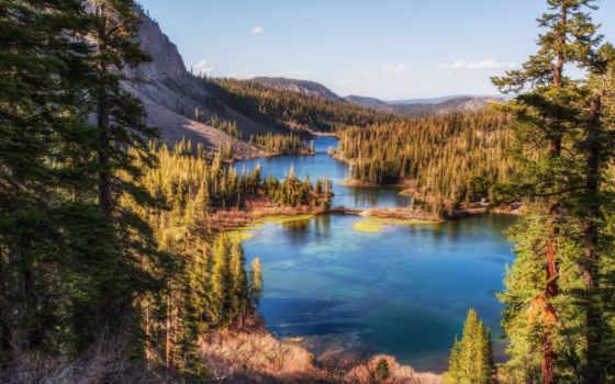 природа, очаровательная, mammoth, lakes,