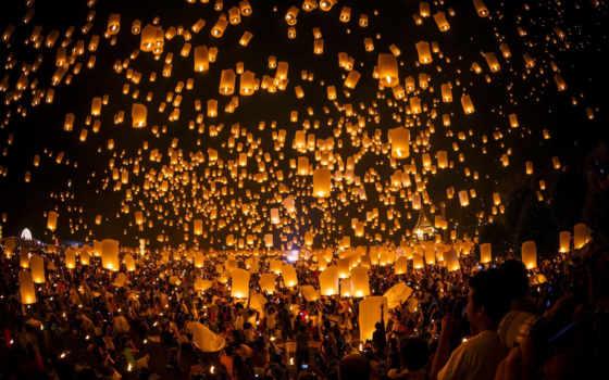 свечи, праздник, люди