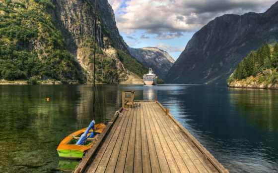 норвегия, country, фьордов
