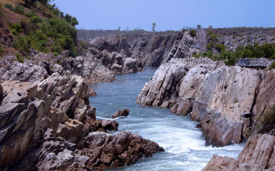 madhya, pradesh, water, tourism, narmada, jabalpur, река, india, state