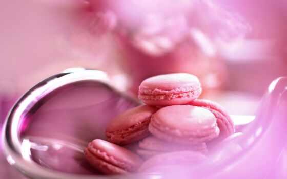 сладость, candy, розовый, макаронс, french, cookie, macaron