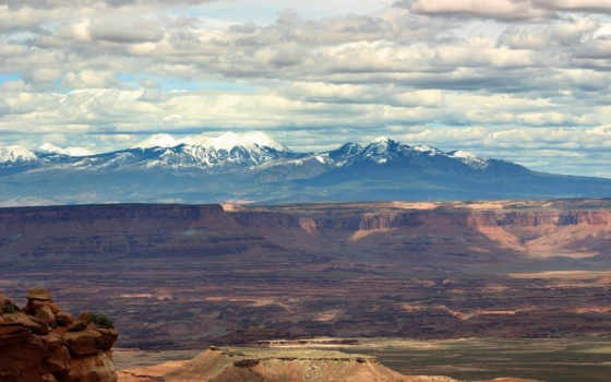 небо, land, горы