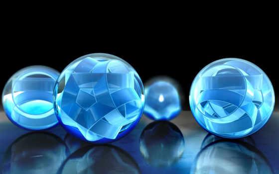 шарики, объемные, отражение
