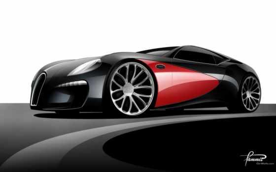 bugatti, car, вид, concept, streamliner, авто, top, машин,