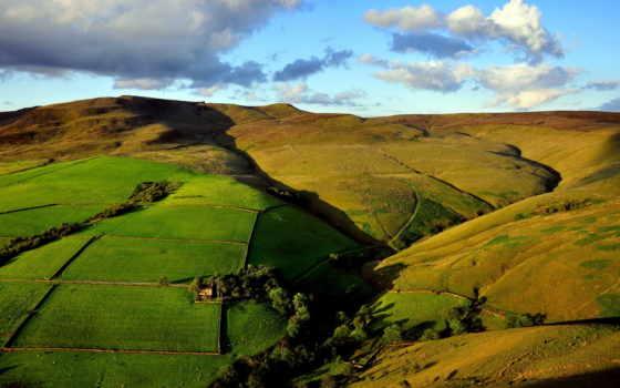 природа, взгляд, margin, пейзажи -, поля, верху, сверху, горы, landscape, планер, холмы,