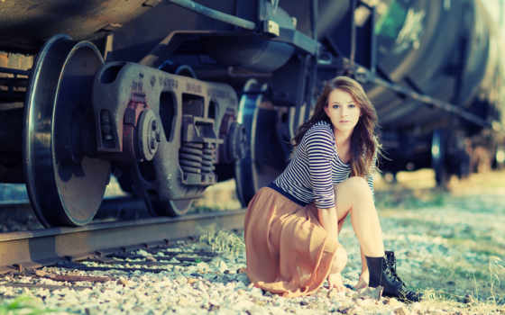 девушка, devushki, girls, близко, железной, дороги,
